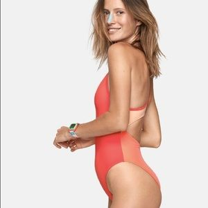 Outside Voices Dive Back Cutout One-piece Swimsuit